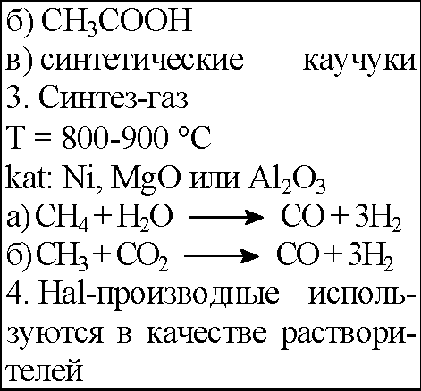 №19. Составьте конспект ответа, характеризующего метан и этан, заполнив
